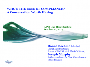 Who's The Boss (Of Compliance)?