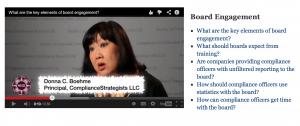 Donna Boehme Discusses Board Engagement